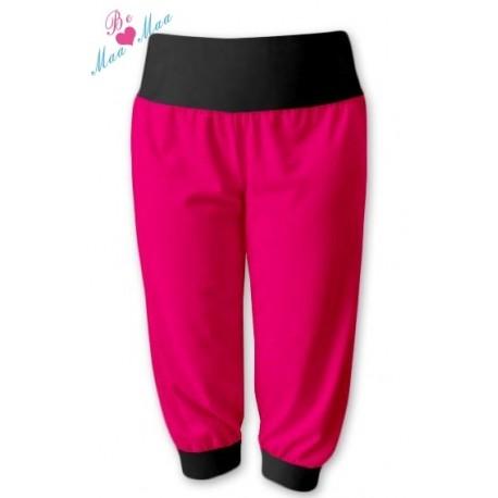Sportovní 3 4 legíny CAPRI - růžová černá d7a2028259