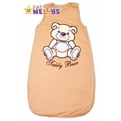 Spací vak TEDDY BEAR Baby Nellys - hnědý vel. 0+