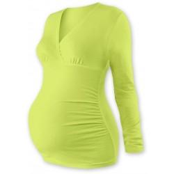 Těhotenské triko/tunika dlouhý rukáv EVA - sv. zelené