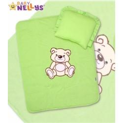 Sada do kočárku jersey Medvídek TEDDY BEAR Baby Nellys - zelená