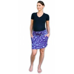 Letní těhotenská sukně s kapsami - vzor č. 01