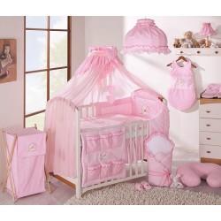 Luxusní mega set s moskytiérou - LOVE růžový