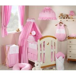 Luxusní mega set s výšivkou CL - Měsíček růžový