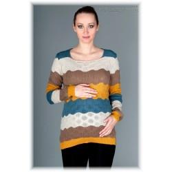Těhotenský svetřík RELAY - kakao