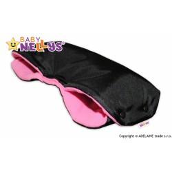 Rukávník ke kočárku Baby Nellys ® flees - černý/růžová