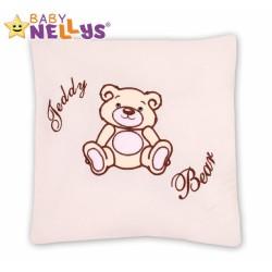 Polštářek 40x40 TEDDY BEAR Baby Nellys - smetanový