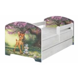 Dětská postel Disney s šuplíkem - BAMBI