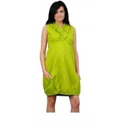Těhotenské šaty TULIPÁNEK - limetka