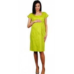 Těhotenské šaty ELA - limetka