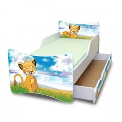 Dětská postel a šuplík/y Lvíček
