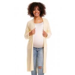 Svetříkový plášť s kapsami MERY - žlutý