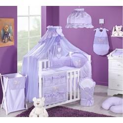 Luxusní mega set s moskytiérou - Zajíčci fialoví kostička