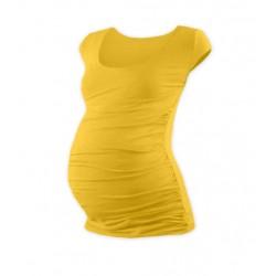 Těhotenské triko mini rukáv JOHANKA - žlutooranžová