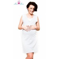 Těhotenská, kojící noční košile IRIS - sv.šedá
