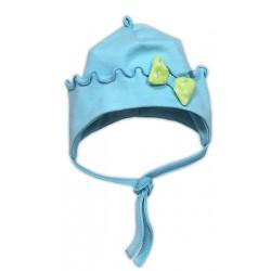 Bavlněná čepička NICOL KVĚTINKA - sv. modrá