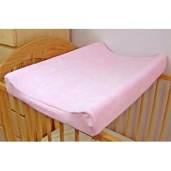 Jersey potah na přebalovací podložku růžový