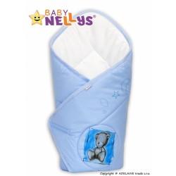 Zavinovačka Baby Nellys Sweet Dreams by Teddy - modrá