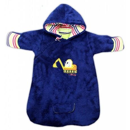 Chlupáčkový spací vak s kapucí BAGR - tm. modrý