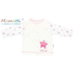 Bavlněná košilka Mamatti - STAR- smetanová/hvězdičky