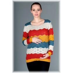 Těhotenský svetřík RELAY - koral/red