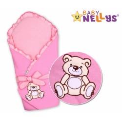 Zavinovačka s výztuží TEDDY BEAR Baby Nellys - jersey - růžová