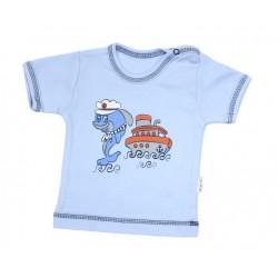 Tričko/košilka krátký rukáv Mamatti - Delfín