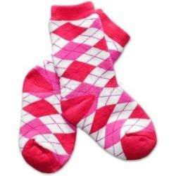 Bavlněné  froté ponožky 12m+ - kárko růžové