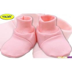 Botičky/ponožtičky BAVLNA - sv. růžové
