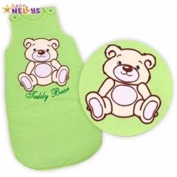 Spací vak TEDDY BEAR Baby Nellys - sv. zelený vel. 0+