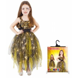 Karnevalový kostým čarodějnice/halloween zlatá vel. S