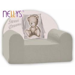 Dětské křesílko/pohovečka Nellys ® - Sweet Dreams by TEDDY - šedé