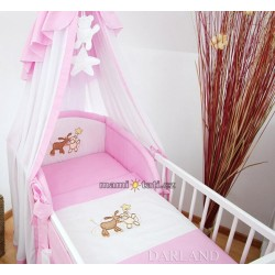 Luxusní mega set s výšivkou Š - Oslík růžový