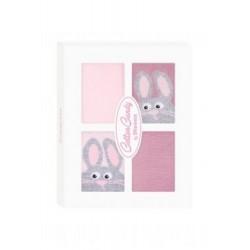 Kojenecké ponožtičky CANDY BOX - Králiček růžový