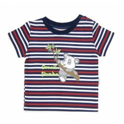 Tričko krátký rukáv Mamatti - Panda proužek