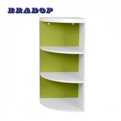 Rohová skříňka zelená, C 117