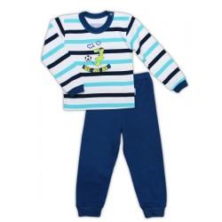 Bavlněné pyžamko NICOL SEDMIČKA - proužek/tmavě modrá