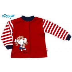 Bavlněná košilka NICOL ALA - červená s proužkem