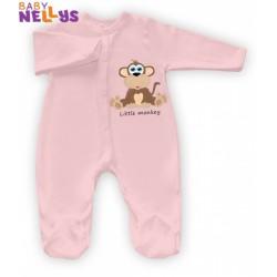 Overálek Little Monkey Baby Nellys - růžový