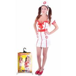 Karnevalový kostým slečna zdravotnice, dosp., vel. M