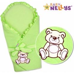 Zavinovačka s výztuží TEDDY BEAR Baby Nellys  - jersey - zelená