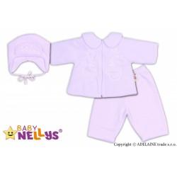 Kabátek, čepička a kalhoty Baby Nellys ®- bílá