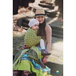 Little FROG Žakárový tkaný šátek na nošení dětí - LEMON HOURGLASSES