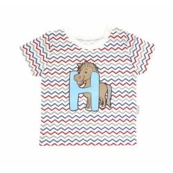 Tričko krátký rukáv Mamatti - Zvířátka zigzag