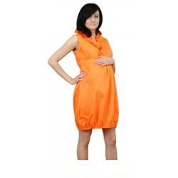 Těhotenské šaty TULIPÁNEK - oranžová
