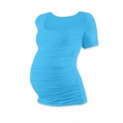 Těhotenské triko krátký rukáv JOHANKA - tyrkys