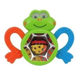 Edukační chrastítko a kousátko  BABY MIX - Kaleidoskop žabka