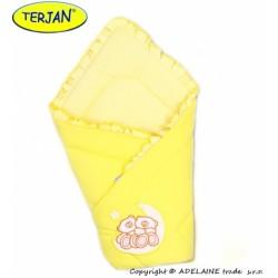 Zavinovačka Míšové a hvězdička - jersey - krém/žlutá