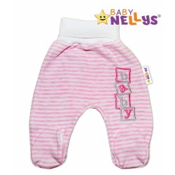 Polodupačky Baby Nellys ® Baby Bear - růžový proužek