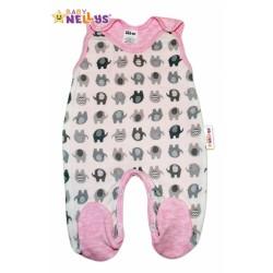 Dupačky SLONÍK Baby Nellys ®- růžový melírek