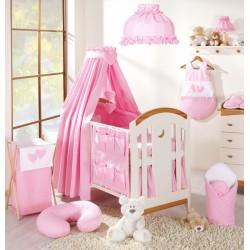 Luxusní mega set s výšivkou CL - Srdíčko růžové